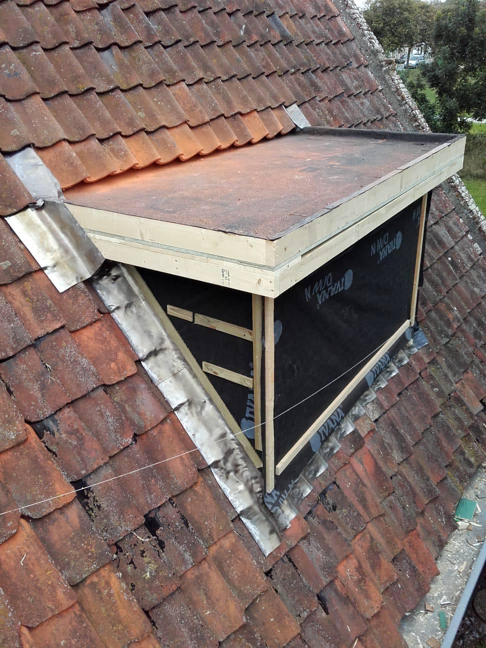 Foto dakkapel in aanbouw